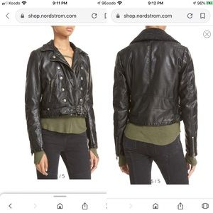 Free People Ashville vegan/faux leather jacket